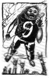 С.Лазорин в иллюстрации художника Ю.Эсауленко к книге братьев Ореховых
